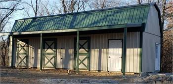 Dutch Door Hay Lofted Horse Barns with Tack Room and Lean Too