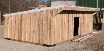 Wooden Goat and Sheep Shelters