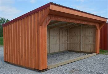 Wooden Shed Roof Horse Run In Sheds