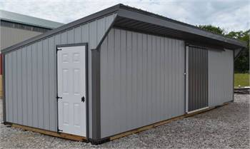 Closed Front Metal Horse Run In Sheds with Tack Rooms