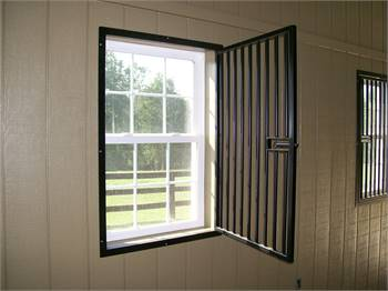 Stationary and Swing Out Horse Stall Steel Grill Window Guards